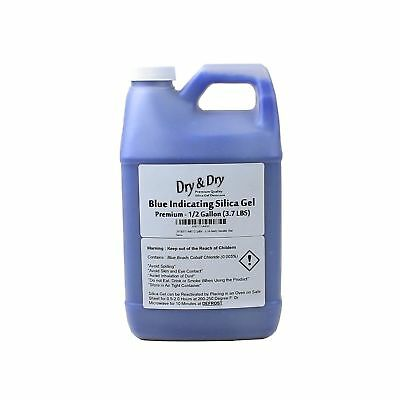 DRY&DRY Half(1/2) gallon Replacement Desiccant Indicating Silica Gel Beads Re...