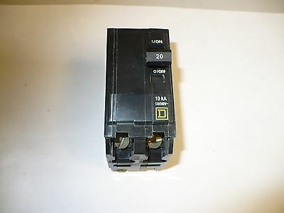 1 pc. Square D QO220 Circuit Breaker, 2 Pole, 20 Amp, New