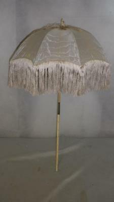 *vintage/antique Petite Ladies Umbrella/parasol- Silver/grey Canopy