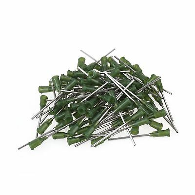 BQLZR Green and Silver 1.5 Inch Length Dispensing Blunt Needle Tips 14Ga Pack...