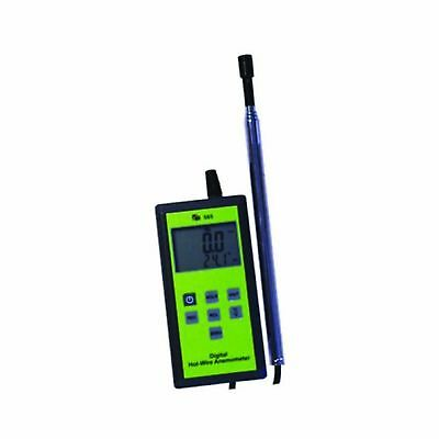 TPI 565C1 Digital Anemometer with Hot-Wire Probe 0.2 to 20 m/s Velocity -20 t...