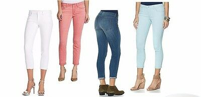 NEW Women's JESSICA SIMPSON ROLLED CROP SKINNY Jean STRETCH SOFT SCULP VARIETY