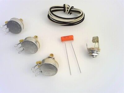 True Custom Shop® Wiring Kit For Fender Jazz Bass Guitars with USA CTS Pots