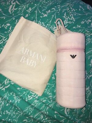 Armani Baby Girl Light Pink Bottle Warmer Carrier Insulated Brand New
