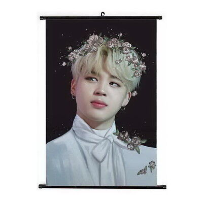Kpop BTS Bangtan Boys Jimin Hanging Painting Art Painting Wall Scroll Poster