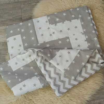 Baby Reversible Patchwork Quilt, Coverlet №6, Baby Bedding, Cover, Baby Blanket
