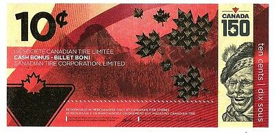 Canadian Tire releases limited edition Canada 150 Anniversary 10-cent bill UNC