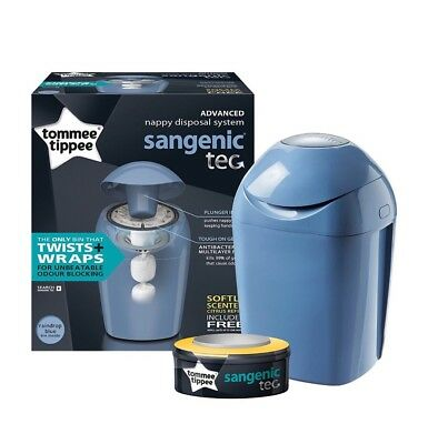Tommee Tippee Sangenic Baby Nappy Diaper Disposal System Bin Tub & Cassette