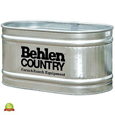 Water Tank 90 Gallons Galvanized Oval Tub Farm Stock Horse Livestock Feeder Lawn