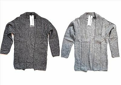 Kids Boys Sweater Open Cable  Shawl Jumper Outwear Cardigan