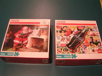 Coca-Cola 1000 Piece Puzzles - Lot Of 2