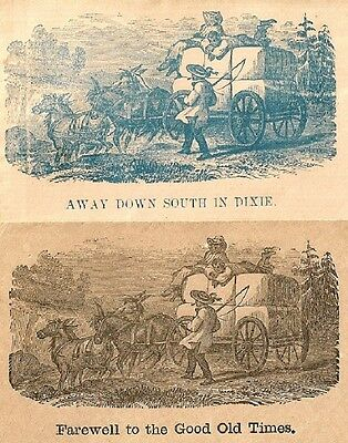 (2) CIVIL WAR PATRIOTIC Covers DOWN SOUTH IN DIXIE***FAREWELL TO GOOD OLD TIMES
