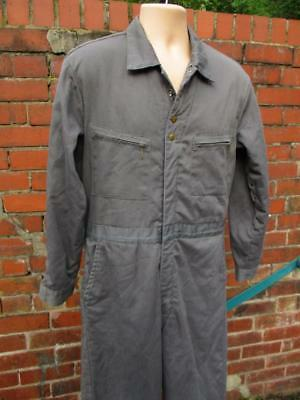 M - Vintage 1970's Lee Mens Grey Boiler Suit Workwear Quilted Overalls - L725