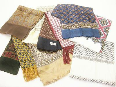 Vintage 70's Mens Neck Scarf Cravat Job Lot x 10 Items Wholesale Mod Scooter
