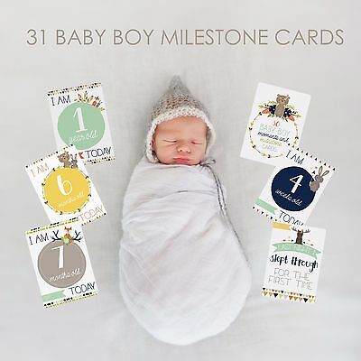 Baby Boy Moments and Milestones Cards - 30 Pack. Brand New and Sealed.