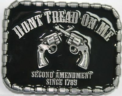 Dont Don't Tread on Me Belt Buckle 2nd Amendment Since 1789 USA SHIPPER