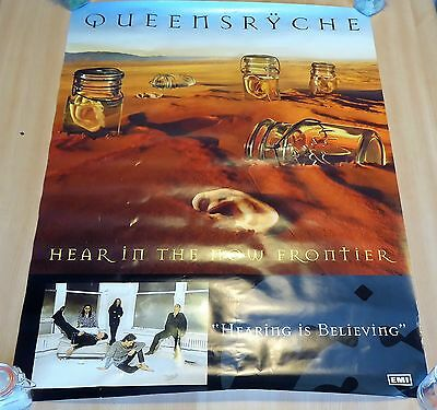 Queensryche - Hear in the now frontier promo poster - size : 80x60 .