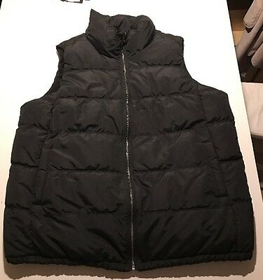 New Old Navy Maternity Black Puffer Vest Large