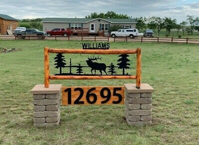 12 inch Bold House Numbers Letters, color choices