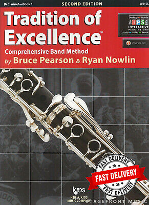 TRADITION OF EXCELLENCE BOOK 1  Bb CLARINET - BY BRUCE PEARSON & RYAN NOWLIN