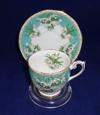 Queen Anne Tea Cup and Saucer, MARILYN, Fancy Floral Teacup Set, demitasse