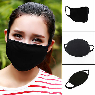 1PC Unisex Breathable Anti Dust Windproof Bacteria Proof Cotton Black Mouth Mask