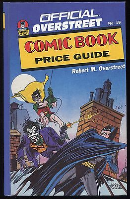 1989 Overstreet COMIC BOOK PRICE GUIDE #19 Hard Cover HC MINT SHAPE!
