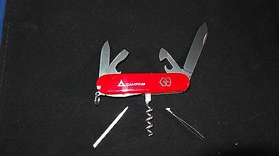 """Vintage Victorinox Swiss Army Knife """"camper"""" Mint In Box Retired Vg Condition"""