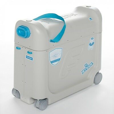 Jet Kids Bed Box Blue Ride-on Suitcase Childrens Travel Luggage 20 litre storage