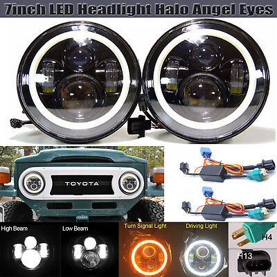 For Toyota FJ Cruiser 7inch LED Headlight High Low Beam DRL Lights H4 H13 2Pcs