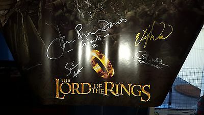 The Lord Of The Rings (Elves) Poster Signed By Cast