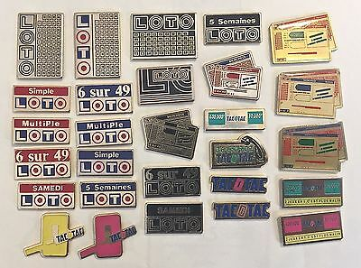 28 ☛ Loto (A Lottery Numbers Game) Advertising - Promotional Pins + Tac0Tac Pins