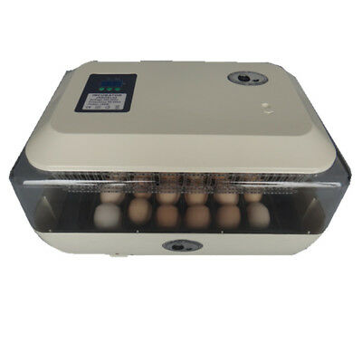 24 Egg Incubator Fully Automatic Digital Temp Control Chicken Duck Goose Eggs