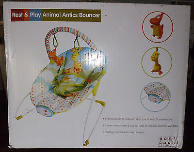 East Coast Rest And Play Animal Antics Bouncer Chair