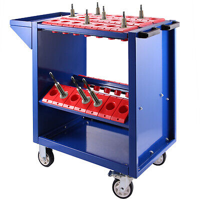 BT40 CNC Tool Trolley Cart Holders Toolscoot 4 wheels Workstation Storage