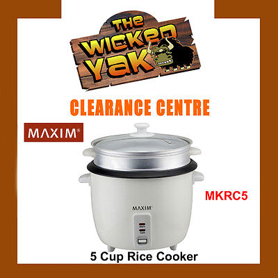 Maxim 5 Cup Automatic Cycle Rice Cooker+Spoon & Cup MKRC5 FREE SHIPPING-NEW!