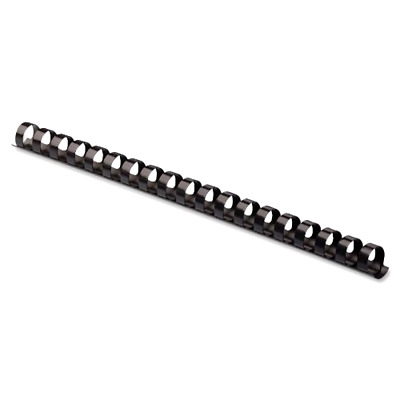 Plastic Binding Combs Black Pack of 25 Round Back 120 Sheet Capacity 5/8 Inches
