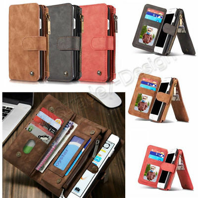 Genuine Leather Phone Flip Wallet Case Cover for iPhone 6 7 Plus Samsung S6 edge