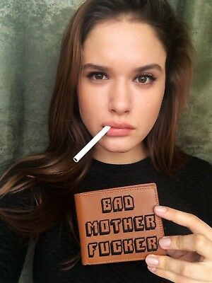 Best Leather Wallet As Seen in Pulp Fiction. Embroidered BMF (Bad Mother F_cker)