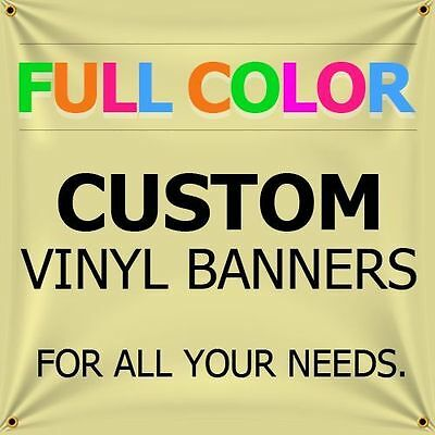 3' X 2' Full Color Custom Banner 13oz Vinyl Outdoor Personalized ( Free Design )