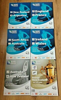 Rugby World Cup 2011 Quarter-Finals, Semi-Final, Final Programmes