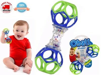 2 Oball Rattle Shaker Toy For Baby Toddler Infant Grab And Hold Learning Play