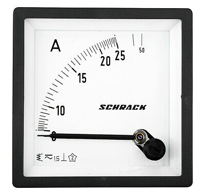 Ammeter, 72x72mm, 25A, AC, Direct measuring, Accuracy Class 1.5 - MGF57025-A