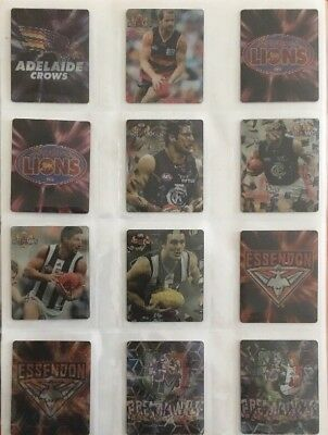 RARE AFL Complete Sets Of 3D-Silver Holograms & Classic Hot Shots 96 Tazos