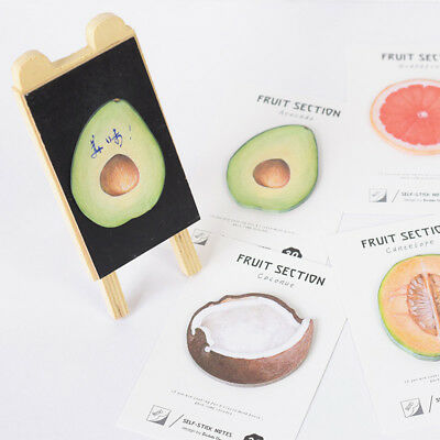 Novelty Fruit Sticky Notes Memo Pad Book Bookmark Index Stickers Stationery DIY