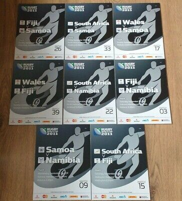 Pool D Rugby World Cup 2011 Programmes Fiji Samoa South Africa Wales Namibia