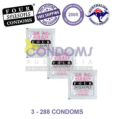 Four Seasons Naked PINK Condoms Multi Options - FREE SHIPPING