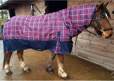 250g Standard or Combo Check Turnout Rug All Sizes 4'9-7'3 Pony Cob Full