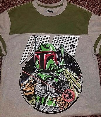 Boba Fett Star Wars Empire Retro Ringer T-shirt Men's M Medium 60/40 Fifth Sun
