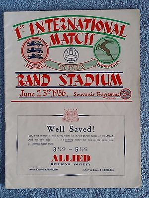 1956 - SOUTH AFRICA v ENGLAND PROGRAMME - SOUTH AFRICA TOUR